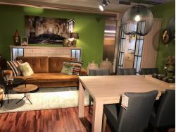 Hoge dressoir + vitrine + tafel + tv-meubel - Outlet - Sensa Interieur